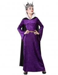 Böse Königin Mädchenkostüm für Fasching oder Halloween lila-schwarz
