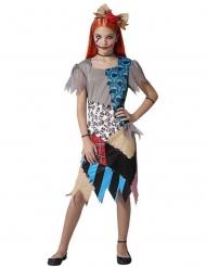 Voodoo-Puppen-Kostüm für Mädchen Halloweenkostüm bunt