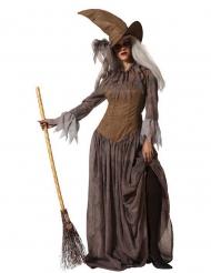 Traditionelles Hexen-Damenkostüm für Halloween braun