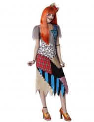 Voodoo-Puppe-Kostüm für Damen Halloweenkostüm bunt