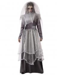Geisterbraut Damenkostüm Halloweenkostüm grau