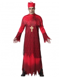 Kardinal-Zombie-Kostüm für Herren Halloweenkostüm rot