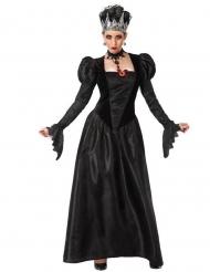Schaurige Gothic-Königin Damenkostüm Halloweenkostüm schwarz