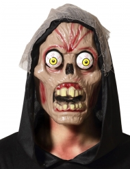 Monstermäßige-Maske mit großen Augen Halloween-Zubehör beige-rot
