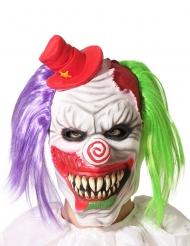 Horrorclown-Maske für Erwachsene Halloween-Accessoire bunt