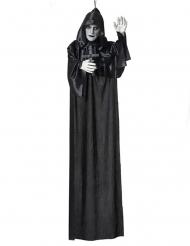 Mönch-Figur Halloween-Deko mit Leuchtfunktion schwarz-weiss 120 cm
