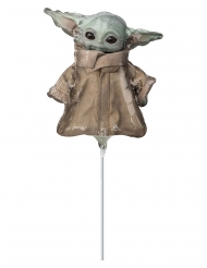 Baby Yoda™-Ballon The Manalorian™ Party-Deko Mitbringsel grau-braun 23 cm