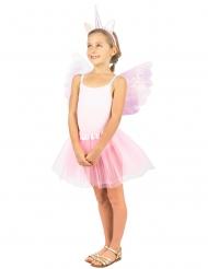 Einhorn-Kostüm-Set für Mädchen Fasching 2-teilig rosa