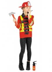 Feuerwehrkostüm für Mädchen mit Kostüm-Zubehör Karneval bunt