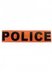 Odnungshüter Polizei-Armbinde Accessoire für Erwachsene schwarz-orange
