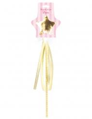 Märchenhafter Feen-Zauberstab Faschings-Zubehör goldfarben