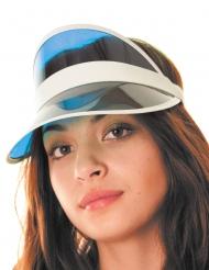 Poker-Mütze für Erwachsene Schirmmütze Accessoire blau-weiss