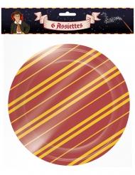 Magische Pappteller für Halloween Tischdeko 6 Stück rot-gelb 22 cm