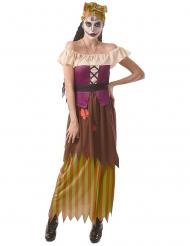 Voodoo-Hexe Damenkostüm für Halloween bunt
