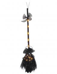 Hexenbesen leuchtend mit LED-Funktion Accessoire schwarz 90 cm