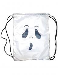 Gespenstischer-Rucksack Halloween-Zubehör für Kinder weiss-schwarz