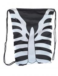 Stilvoller Skelett-Rucksack Beutel für Kinder Halloween-Zubehör schwarz-weiss