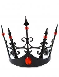 Krone für eine böse Königin schwarz rot