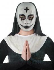 Besessene Nonnen-Maske Halloween-Accessoire weiss-schwarz