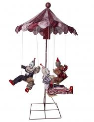 Horror-Clown Dekofigur mit Karussell Licht & Soundeffekt Halloween 130 x 122 cm