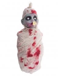Zombie-Baby Halloween-Deko zum Erschrecken mit Licht und Sound 50 cm