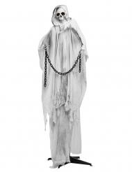 Eisige Skelett-Figur für Halloween Horror-Deko blau-grau-schwarz 240 cm