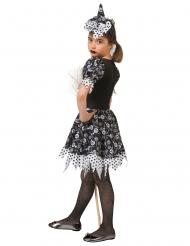 Candy-Hexen-Kostüm für Mädchen Halloweenkostüm schwarz-weiss
