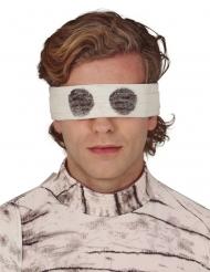 Augenbinde zum Durchsehen Mumien-Accessoire weiss
