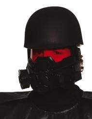 Postapokalyptischer-Helm für Soldaten Accessoire für Erwachsene Halloween schwarz