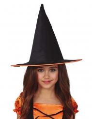 Kinder-Hexenhut für Halloween Kostüm-Accessoire für Hexen schwarz-orange