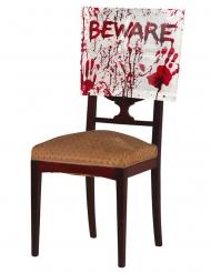 Blutige Stuhlhusse Halloween-Dekoration Horror-Stuhlbezug weiss-rot 48 x 38 cm