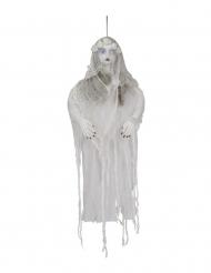Mystische Wald-Hexe Deko-Figur für Halloween Partyzubehör braun-weiss-schwarz
