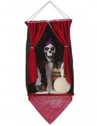 Skelett-Wahrsagerin Hängedekoration für Halloween bunt 70 x 30 cm