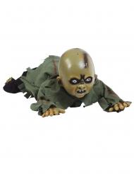 Animierte Baby-Puppe mit Sound und Licht-Funktion Halloween-Deko grün 75 cm