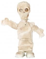 Mumien-Figur Halloween-Deko mit Sound und Licht beigefarben 42 cm