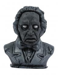 Animierte Skulptur Deko-Artikel mit Licht und Soundfunktion schwarz 34 cm