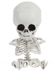 Kleines-Skelett Dekofigur für Halloween Partyzubehör weiss-schwarz 20 cm