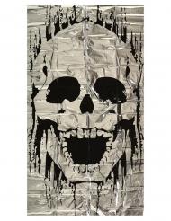 Türdekoration Skelett Party-Zubehör für Halloween weiss-schwarz 75 x 150 cm