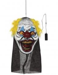 Übergroßer Clownskopf Halloween-Deko mit Leuchteffekt bunt 95 x 35 cm