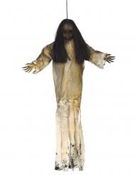 Halloween Puppen-Deko Party-Zubehör beigefarben-schwarz 90 cm