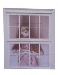 Schaurige Puppe-Fensterdeko für Halloween 75 x 90 cm