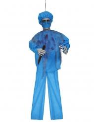 Dekofigur-Chirurg mit Sound Halloween Partyzubehör türkisfarben-rot 100 cm