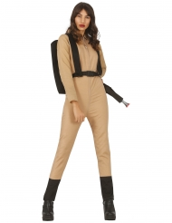 Geisterjäger-Kostüm für Damen beige-schwarz
