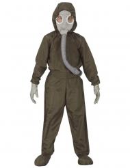 Schutzanzug-Kostüm für Kinder Nuklear-Arbeiter Halloween grün