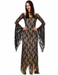 Sexy Dämonen-Kleid Damenkostüm schwarz-beige