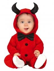 Teufelkostüm für Kleinkinder Babykostüm für Halloween rot-schwarz