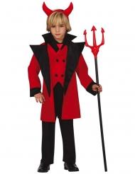 Teuflisches-Kinderkostüm für Jungen Teufel-Kostüm für Fasching rot-schwarz