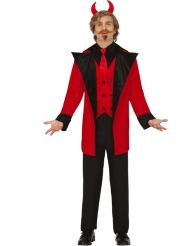 Höllisches Teufelskostüm für Herren rot-schwarz