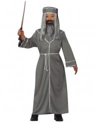 Zauberer-Kostüm für Kinder mit Hut grau
