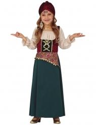 Wahrsagerinnen-Kostüm für Mädchen Faschingskostüm grau-weiss-rot
